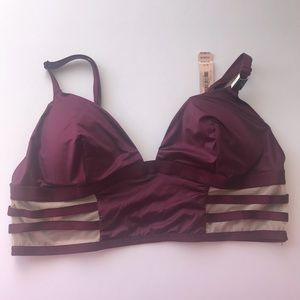 Victoria's Secret | maroon satin silky bralette